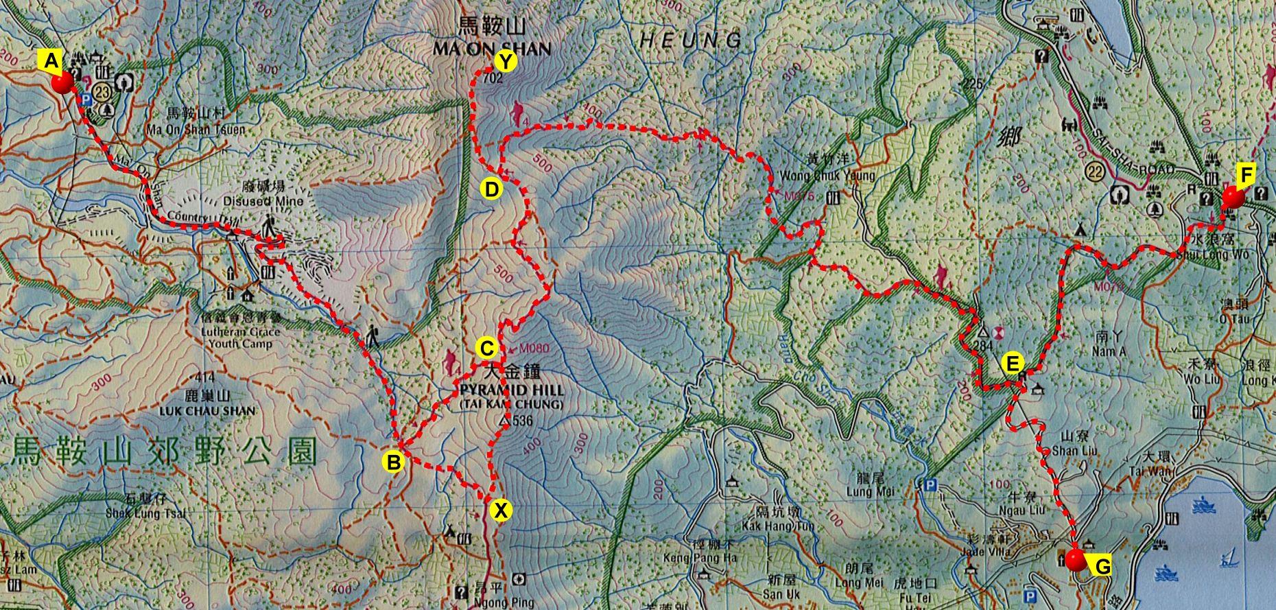南大梁高速路线图